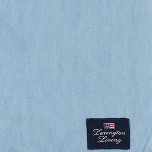 Lexington Light Blue Denim Washed Cotton Tablecloth