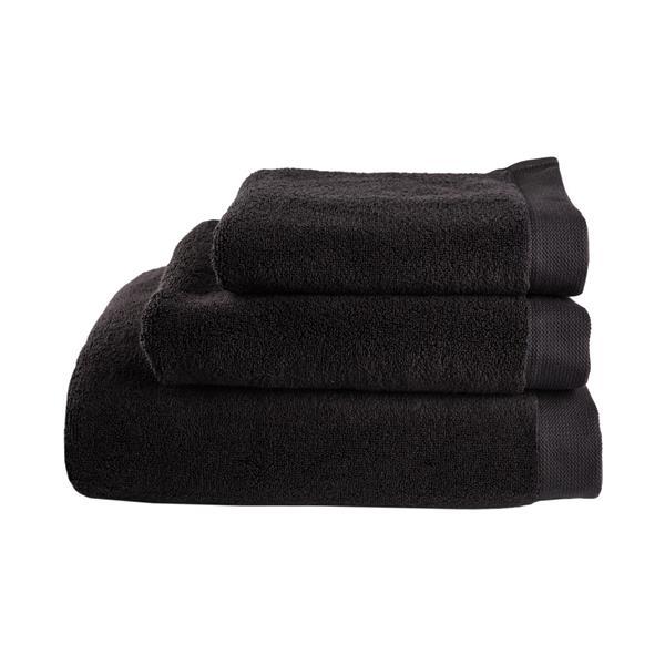Balmuir Lugano Towel, 70 x 140 cm, Black