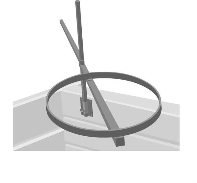 Stekhällsring med träramsfäste
