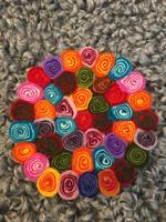 Tovat grytunderlägg multicolour