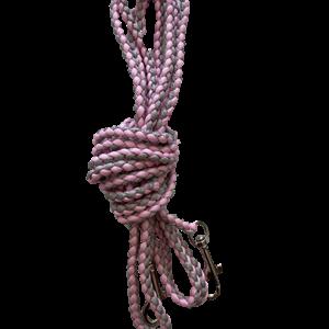 5m bånd lys rosa/grå stor krok
