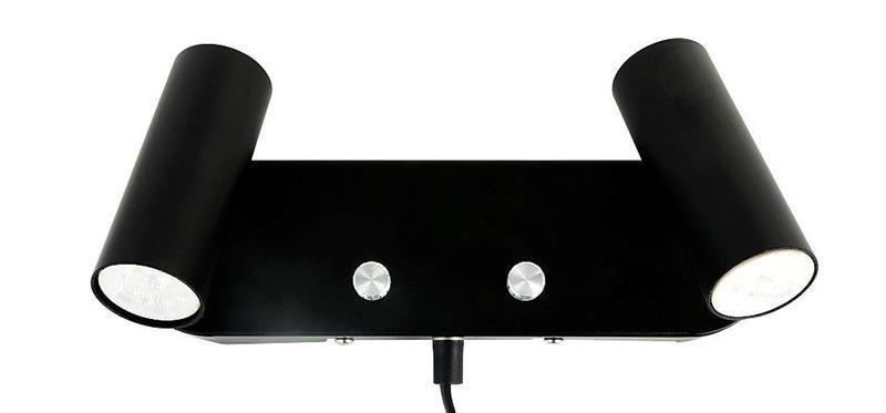 Vägg 2-vägs mini GU10 svart Oriva