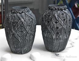 Vas, Sv/silver mönstrad