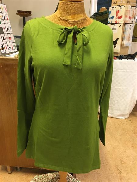 Långärmad top Marika m.knytband Grön st.L