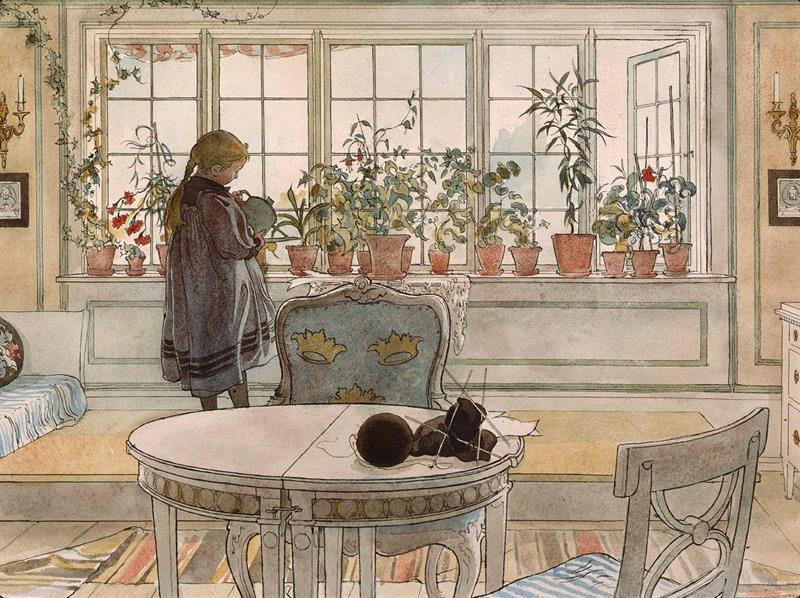 Bordstablett - Blomsterfönstret