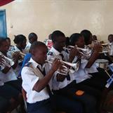 2012 - Kibera Band playing for us