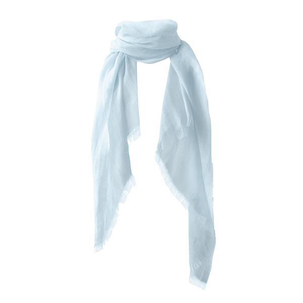 Balmuir Alessia Linen Scarf, 90 x 180 cm, Baby Blue