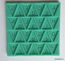 Silikonform Bokstaver, trekanter