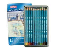 Derwent Watercolour puuvärikynät 12-värin lajitelma