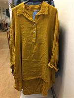 Frackskjorta i linne Dandy Saffran one size+