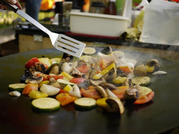 Joint cooking on our griddle pan