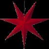 Julstjärna Rozen röd 70cm Star Trading