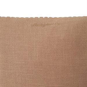Lexington Velvet Cord Cotton Pillow Cover, Dark Beige