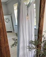 Piro Long Linen Dress, White