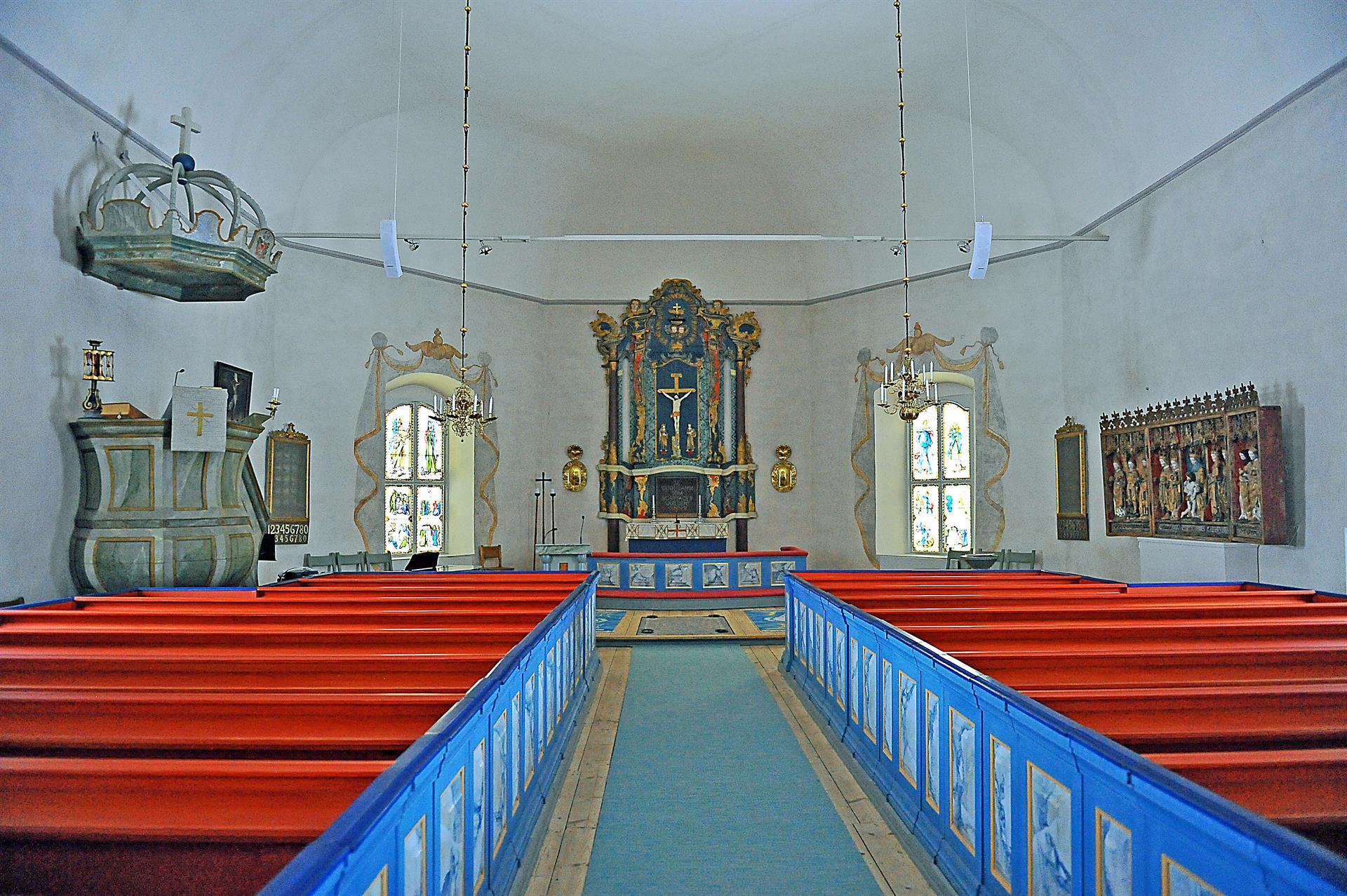 Interiör Kräcklinge kyrka