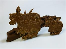 Silikonform sjokolade Drage 4+1