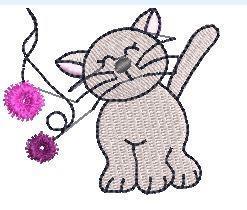 Snuttefilt med motiv katt