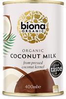 Kookosmaito Biona 6 x 400 ml, luomu