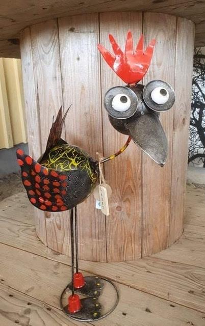 Fågel Kalle i plåt