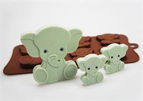 Silikonform Elefant, 4+1