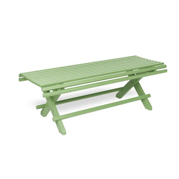 Sundborn Trädgårdsbänk 125 cm kromoxidgrön