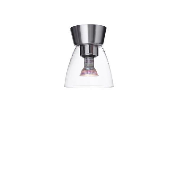 Taklampa Bizzo aluminium/klar glas Belid