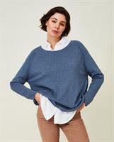 Lexington Lea Organic Cotton/Cashmere Sweater, Blue Melange