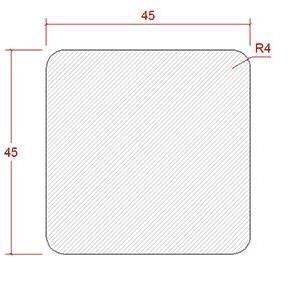 45x 45 Byggregel C18 L=3,6 m