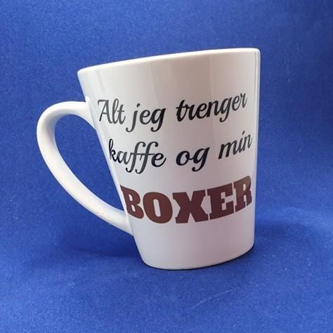 Lattekopp med boxer. 2 pkn.