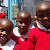Florence, Dorah & Rozinah at Red Rose School