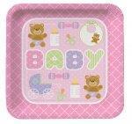 Serveringsfat Baby Rosa, 8stk