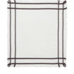 Lexington Fringe Napkin, White/Gray