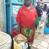 Grandma buying food