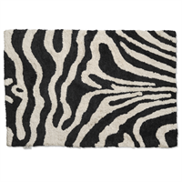 Classic Collection Bath Mat Zebra 60 x 90 cm, Black/White