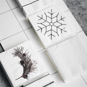 House Doctor Paper Napkin, Snowflake