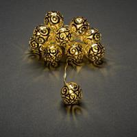 Batterislinga med guldbollar Konstsmide