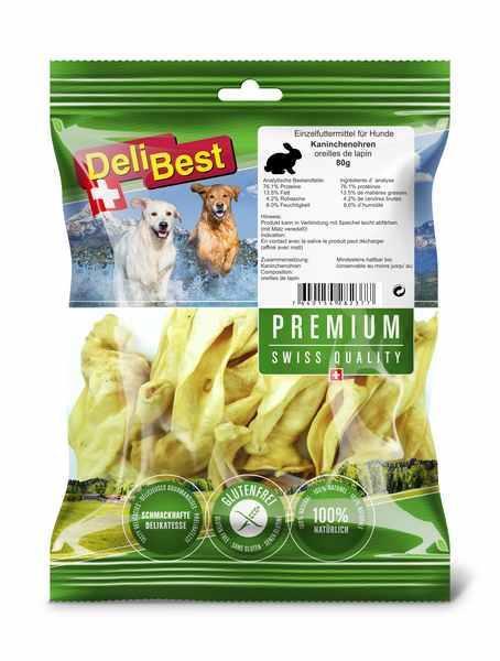 Premium Kaninører 80 g naturell