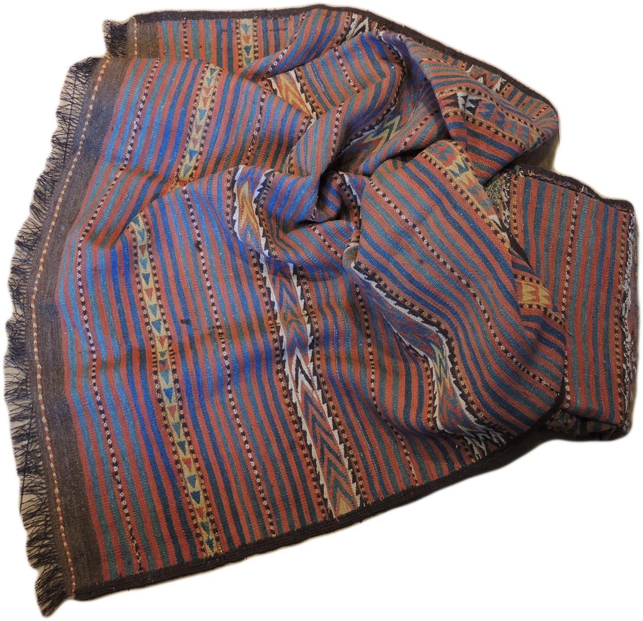554 Afghansk kelim 3,85 x 1,65