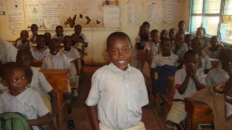 Arnold Sumba in his class