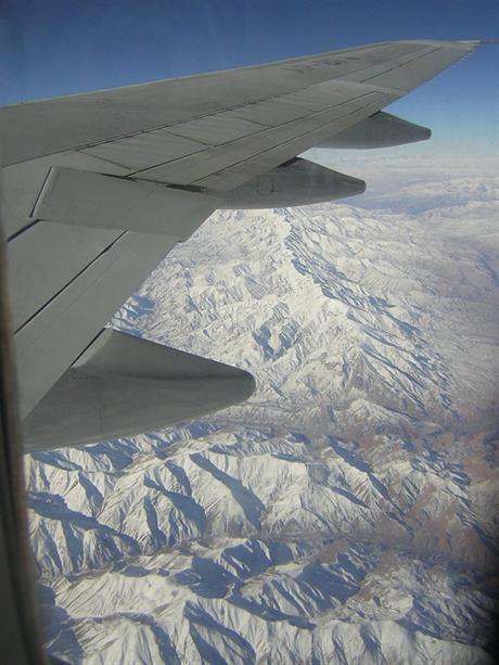 Foto från flygplanet