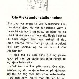 Ole Aleksander heime og ute (NYNORSK)
