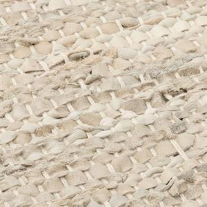 Rug Solid Nahkamatto, Beige 60 x 90 cm