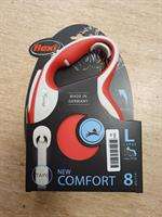 Flexikoppel Comfort Band Röd L 8m