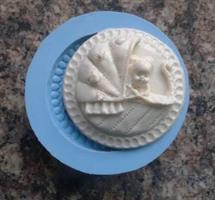 Silikonform Cupcaketopper Baby in Pram NM