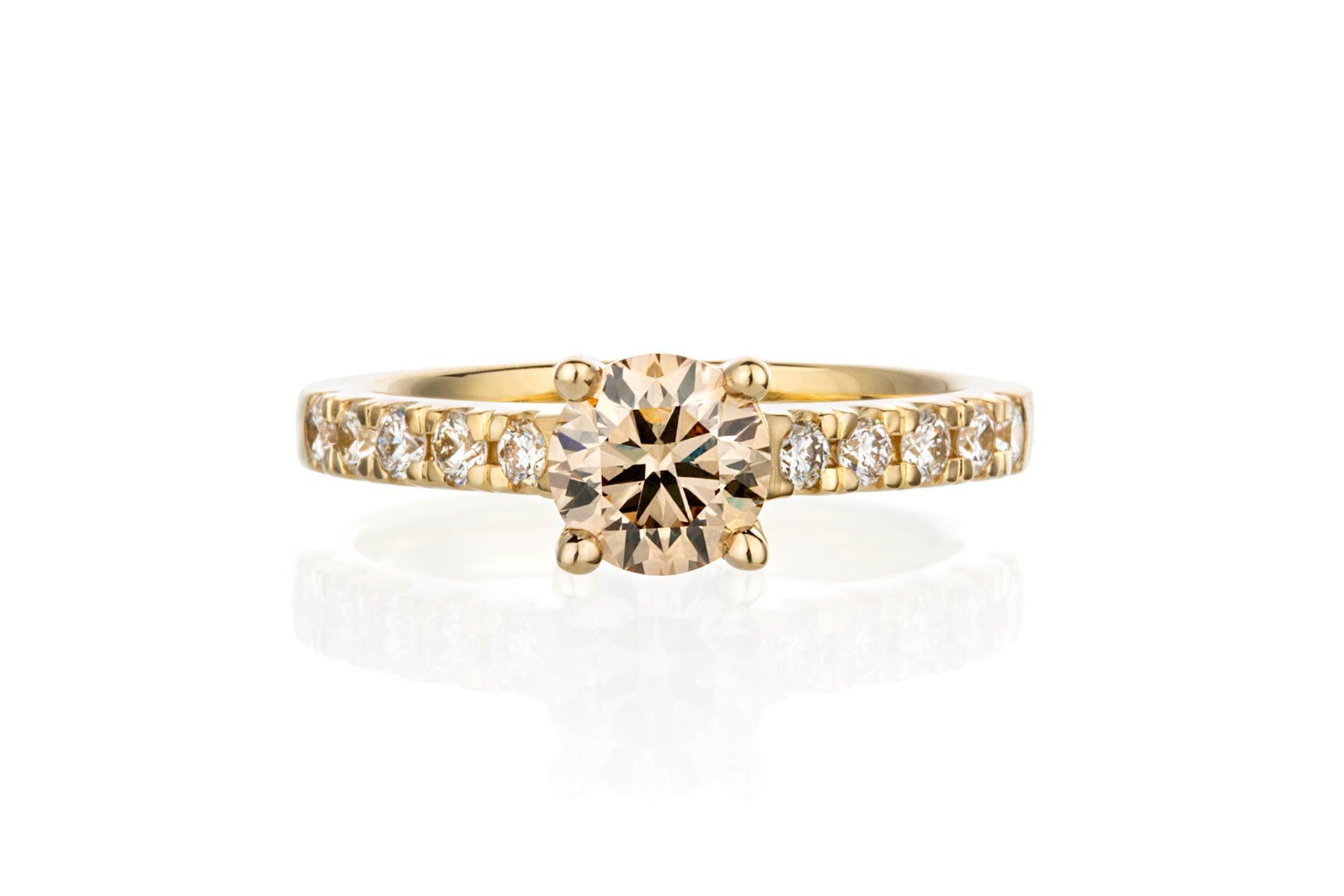 Champagne diamant ring. Juveler MSJ