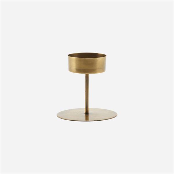 House Doctor Tealight holder, Anit, Antique brass