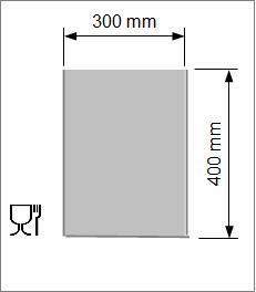 Kok/Sous-vide påse 300x400 mm