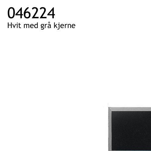 046224 hvit med grå kjerne