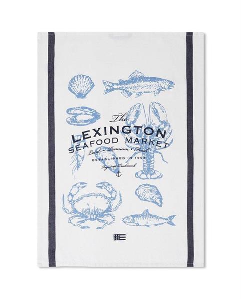 Lexington Seafood Cotton Twill Kitchen Towel