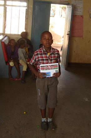 Moses with his sponsor picture